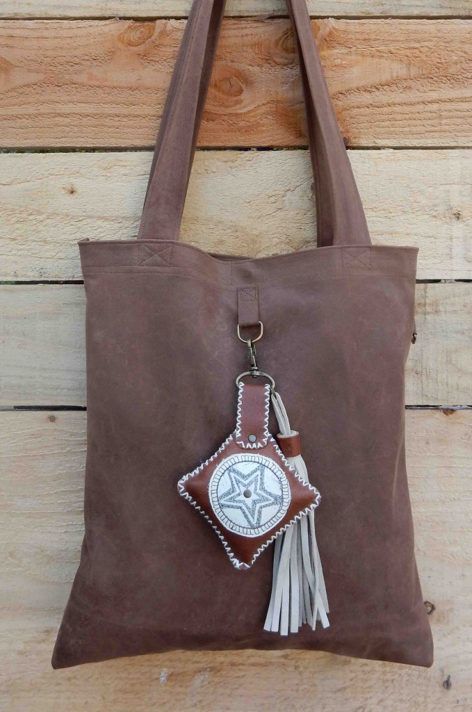 Leather bag and star charm