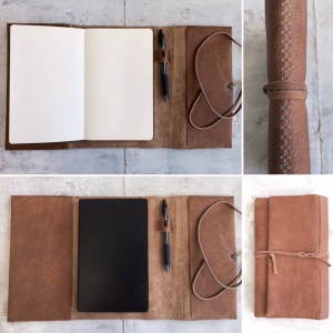 Leather Note or sketchbook cover (moleskine)