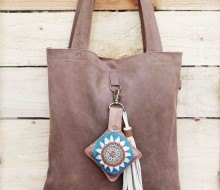 Leather bag and charm (1)