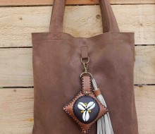 Leather bag and charm (2)