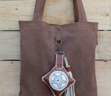 Leather bag and charm (3)