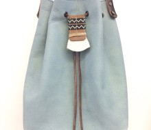 Boho blue bucketbag